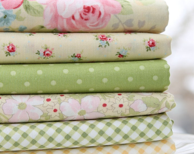 Amberley by Brenda Riddle for Moda ~ Sunshine and Sprouts 6 Fat Quarter Bundle