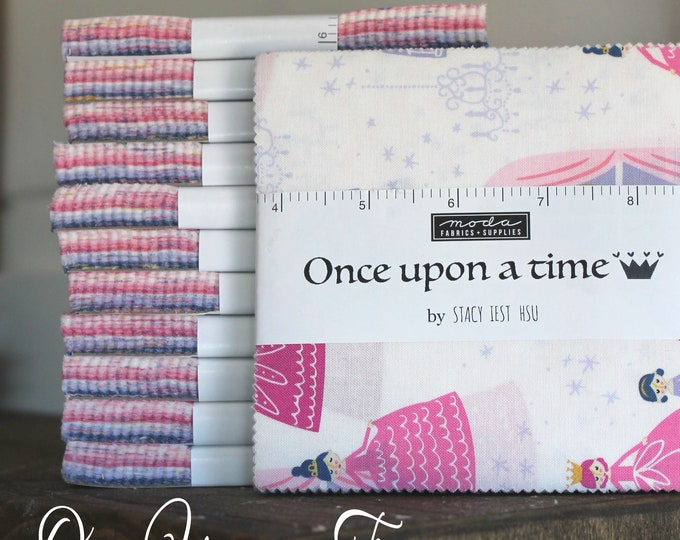 """Once Upon a Time by Stacy Iest Hsu for Moda Charm Pack 5"""" Squares"""