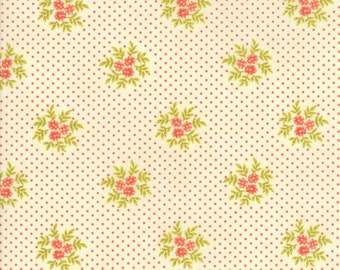 Ella and Ollie by Fig Tree for Moda 20307-16 Milk ~ End of Bolt Yardage ~ 16 Inches