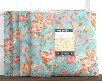 """Coco by Chez Moi for Moda Layer Cake 10"""" Squares"""