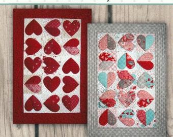 Hearts A Flutter Quilt Pattern Tablerunner