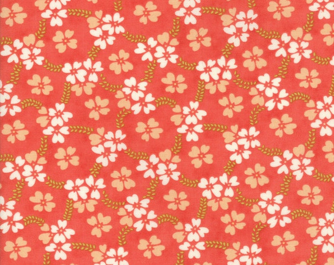 Ella and Ollie by Fig Tree for Moda 20302-11 Strawberry ~ End of Bolt Yardage ~ 35 Inches
