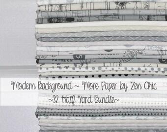 Modern Background - More Paper by Zen Chic for Moda ~ 32 Half Yard Bundle