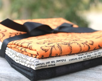 Halloween Bundle by Moda ~ 3 Half Yard Bundle Eerily Elegant and Basic Grey Grunge