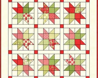 Pocketful of Stars Tablerunner Quilt Pattern PDF Pattern