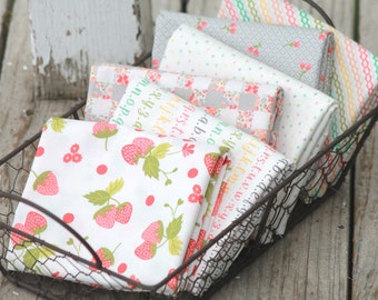 Strawberry Jam by Corey Yoder for Moda ~ 6 Fat Quarter Bundle Whites and Grays