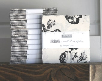 "Urban Cottage by Urban Chiks for Moda Charm Pack 5"" Squares"