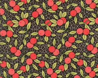 Chesnut Street by Fig Tree for Moda 20273-17 Berries Black  5 Yard Backing Fabric
