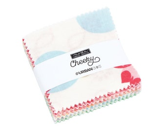 """Cheeky by Urban Chiks for Moda Mini Charm Pack 2.5"""" Squares"""