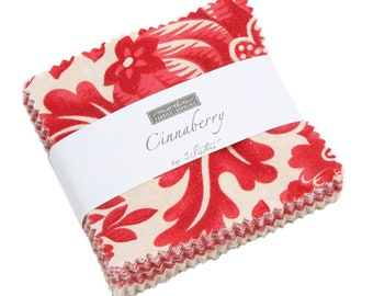 """Cinnaberry by 3 Sisters for Moda Mini Charm Pack 2.5"""" Squares"""