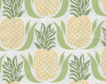 Bungalow by Kate Spain for Moda 27292 21 Pineapple White Lime ~5 Yards ~ Backing