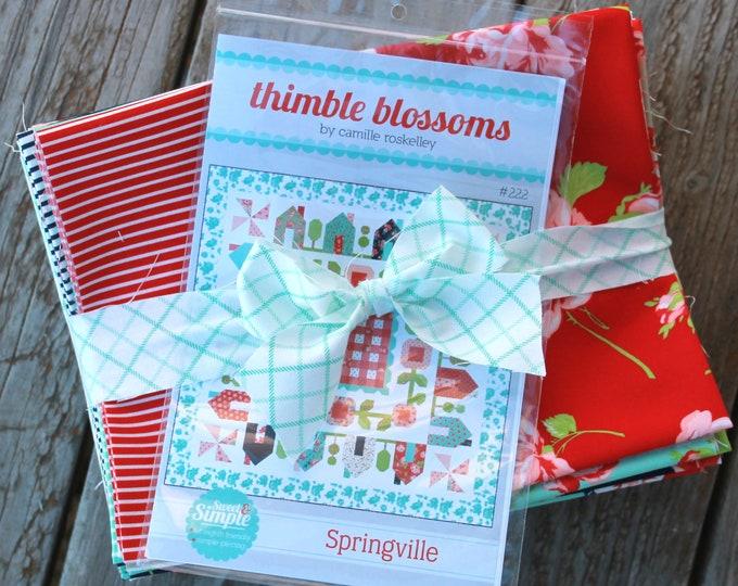 "Springville Quilt Kit Quilt Kit ~ Smitten by Bonnie & Camille ~ 75"" x 75"" ~"