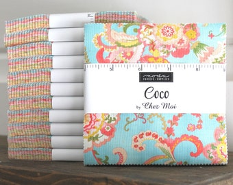 """Coco by Chez Moi  for Moda Charm Pack 5"""" Squares"""
