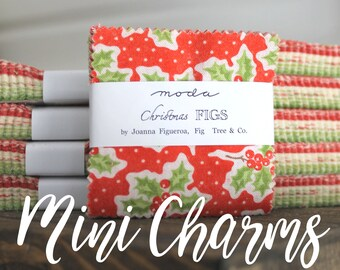 """Christmas Figs by Fig Tree and Co for Moda Mini Charm Pack 2.5"""" Squares"""