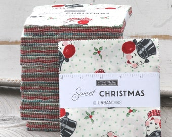 """Sweet Christmas by Urban Chiks for Moda Charm Pack 5"""" Squares"""