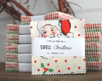 """Swell Christmas by Urban Chiks for Moda Mini Charm Pack 2.5"""" Squares"""
