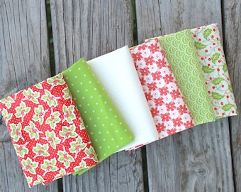 Christmas Figs by Fig Tree and Co for Moda ~ 6 Fat Quarter Bundle B