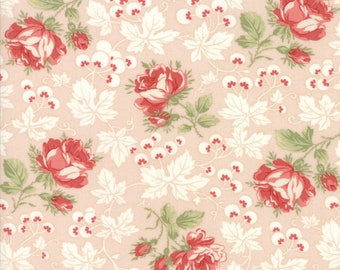 Victoria by 3 Sisters for Moda 44161 11 Pink Ribbon ~ End of Bolt ~ 31 Inches
