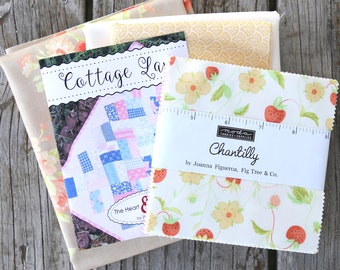 """Cottage Lane Quilt Kit ~ Chantilly by Fig Tree & Co ~ Backing Included ~ 20"""" x 37"""""""