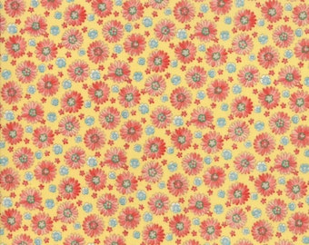 Coco by Chez Moi for Moda 33393 11 Daisies Lemon ~ 5 Yard Backing Fabric~