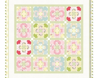 "Vintage Posies by Acorn Quilt and Gift Co/Brenda Riddle Quilt Pattern ~ 86"" x 86"" ~"