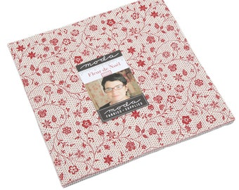 """Fleur de Noel by French General for Moda Layer Cake 10"""" Squares"""