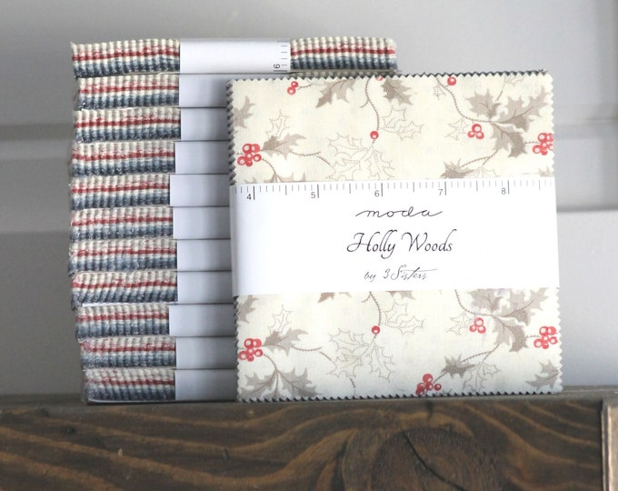 """Holly Woods by 3 Sisters for Moda Charm Pack 5"""" Squares"""
