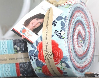 """Hedge Rose by Kelly Panacci for Penny Rose/ 2.5"""" Strips Rolie Polie"""
