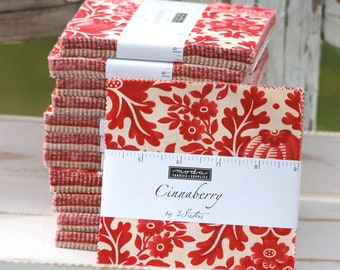 """Cinnaberry by 3 Sisters for Moda Charm Pack 5"""" Squares"""