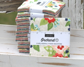 """Orchard by April Rosenthal for Moda Charm Pack 5"""" Squares"""