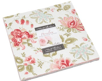"Porcelain by 3 Sisters for Moda Layer Cake 10"" Squares"