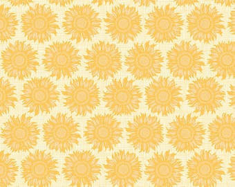 Prairie Sisters by Poppie Cotton PS19017 Dorcus - Yellow ~ By the Half Yard ~