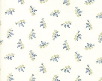 Victoria by 3 Sisters for Moda 44166 23 Ivory Blue ~By the Half Yard ~