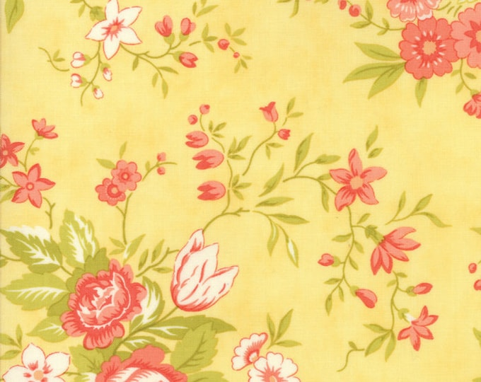 Ella and Ollie by Fig Tree for Moda 20300-19 Daisy ~End of Bolt Yardage~ 21 Inches