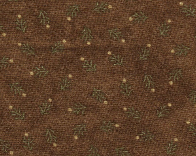 """Birchwood Lane by Holly Taylor for Moda 11042 15 Brown 90"""" x  108"""" Backing Fabric - Seamless"""
