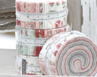 """Porcelain by 3 Sisters for Moda Jelly Roll  2.5"""" strips"""