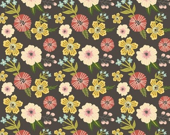 Prairie Sisters by Poppie Cotton PS19006 Ruth - Gray ~ By the Half Yard ~