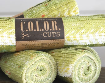 """Color Cuts by Moda ~ Sprouts ~ 10"""" Squares"""