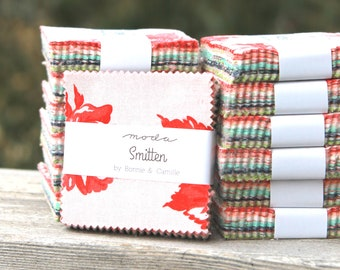 """Smitten by Bonnie & Camille for Moda Mini Charm Pack 2.5"""" Squares"""