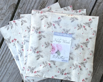 """Holly Woods by 3 Sisters for Moda Layer Cake 10"""" Squares"""