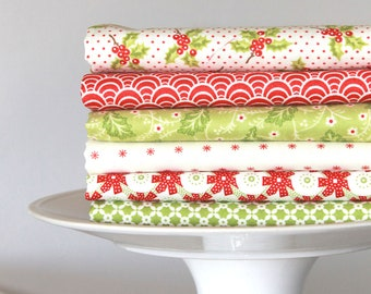 Christmas Figs by Fig Tree and Co for Moda ~ 6 Fat Quarter Bundle A