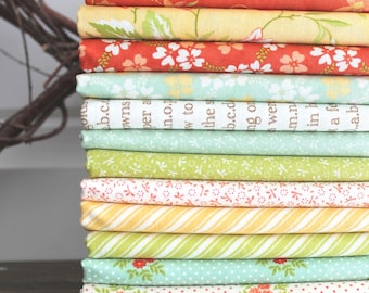 Ella and Ollie by Fig Tree and Co for Moda ~ 12 Fat Quarter Bundle