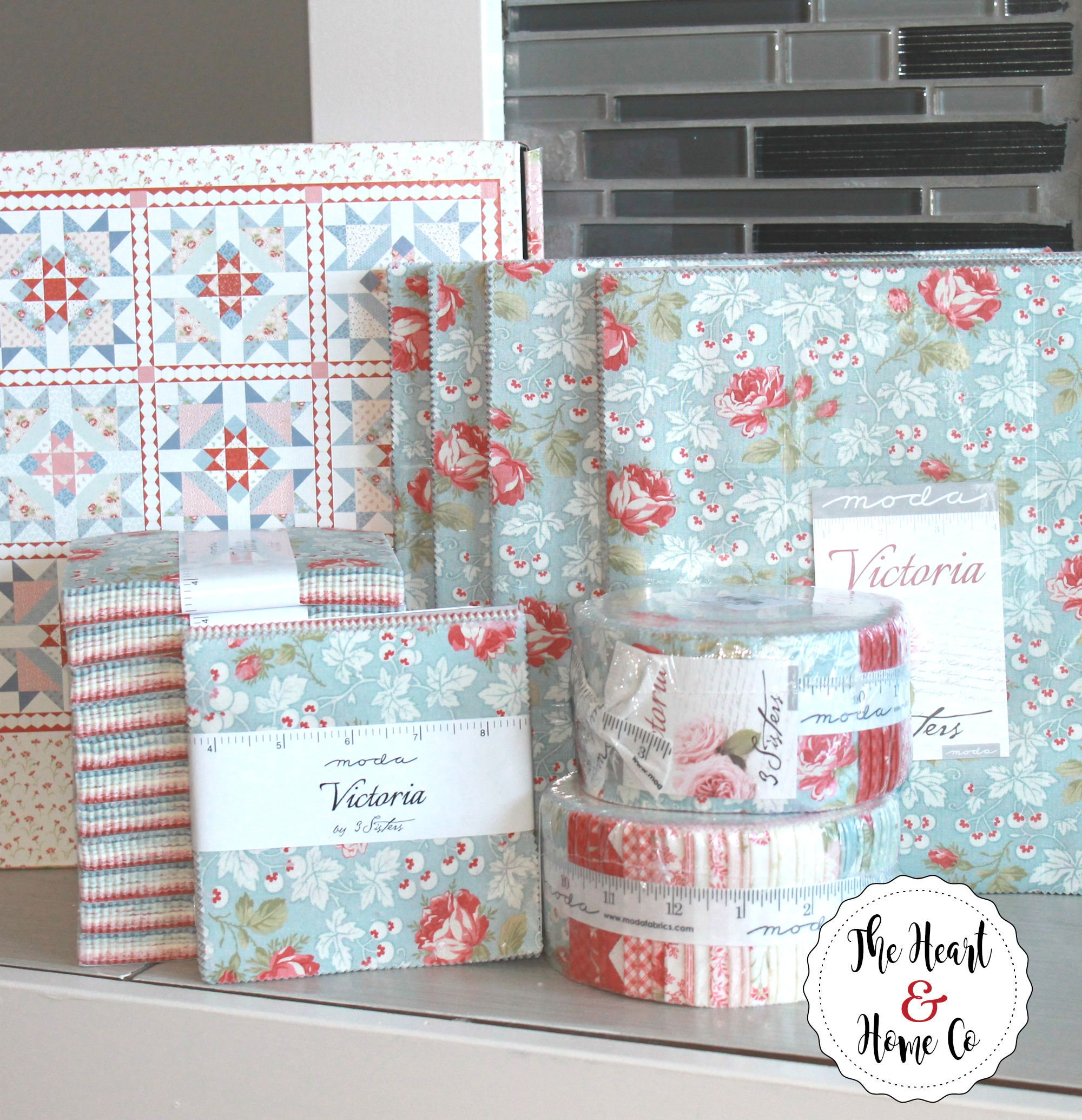 Victoria by 3 Sisters for Moda Charm Pack 5 Squares