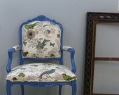 Royal Blue Bird Throne Thomas Paul Chair