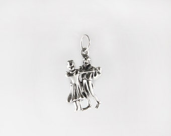 Dancing Couple Sterling Silver Charm
