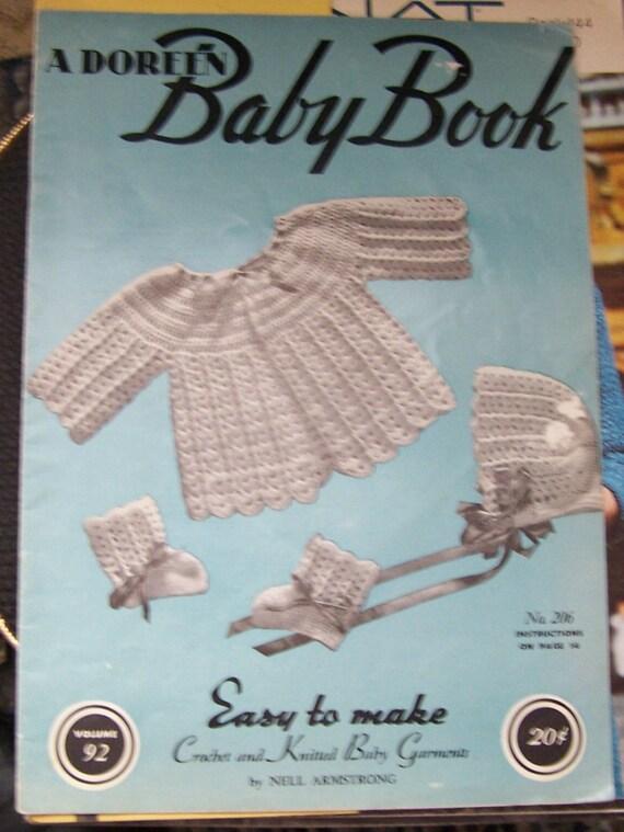 Jahrgang 1945 Doreen Baby Buch häkeln Muster Baby Kleider | Etsy