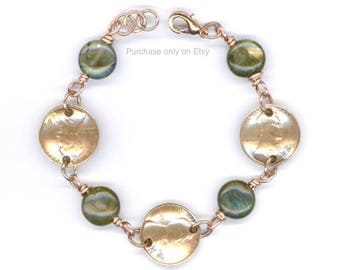 1939 Penny Bracelet 80th Birthday Gift Labradorite Beads Coin Ideas Coins