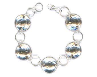 22nd Birthday Gift Jewelry Women 1997 Dime Coin Silver Bracelet Ideas For Gifts Mom Best Friend