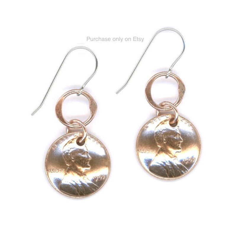 50th Birthday Gift Ideas For Her Jewelry Penny Earrings Coins