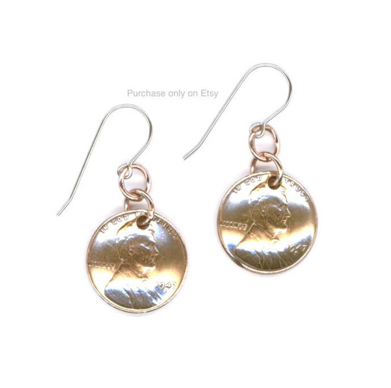 5a71801efabba 71st Birthday Gift Ideas Jewelry 1948 Dangle Metalwork Penny Coins Earrings  for Women Sisters Friends Mothers